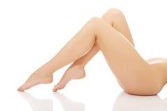 Beautiful perfect female legs. Royalty Free Stock Image