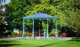 Beautiful pergola inside Buda Catle park Royalty Free Stock Photography