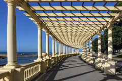 Beautiful  pergola by the sea Stock Photos