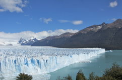 Beautiful Perito Moreno Glacier in Argentina. Glacier Moreno in Terra del Fuego Argentina. This is part of Los Glaciares National Park which is a recognized Royalty Free Stock Photos