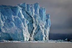 The beautiful Perito Moreno Glacier in Argentina. The beautiful Perito Moreno Glacier in El Calafate, Argentina bathing in some sunlight Stock Image