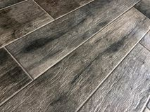 Beautiful perspective shot of the newly installed luxury tile floor . stock images