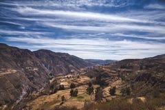 Beautiful Peruvian mountain landscape stock images