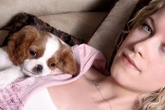 Beautiful Pet Owner Royalty Free Stock Photos