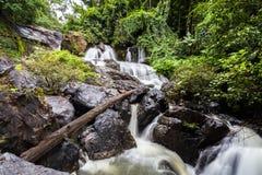 Beautiful of Pha Sua waterfall  at Mae Hong Son province,  Thail Royalty Free Stock Photo