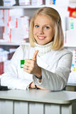 Beautiful pharmacist Royalty Free Stock Image