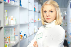 Beautiful pharmacist. Stock Photo