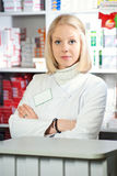 Beautiful pharmacist. Royalty Free Stock Images
