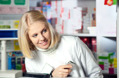 Beautiful pharmacist Stock Photography