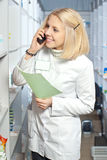 Beautiful pharmacist. Royalty Free Stock Photos