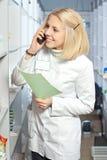 Beautiful pharmacist. royalty free stock photos