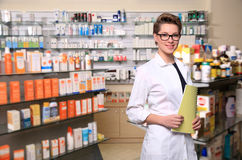 Beautiful pharmacist Stock Images