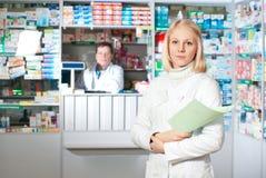 Beautiful pharmacist. Stock Photo