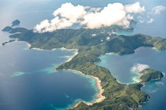 Philippines - Beautiful Philippines landscape from Airplane royalty free stock photography