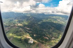 Philippines - Beautiful Philippines landscape from Airplane royalty free stock photos