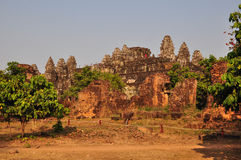 Beautiful Phnom Bakheng in  Angkor, Cambodia Royalty Free Stock Photography