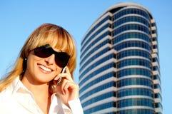 beautiful phone speaking woman young Στοκ Εικόνες