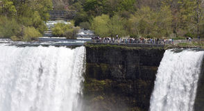 Beautiful  photo of the amazing Niagara waterfall US side Royalty Free Stock Images