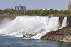 Beautiful photo of the amazing Niagara waterfall at the US side Royalty Free Stock Image