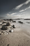 Beautiful rocky beach scene Royalty Free Stock Images