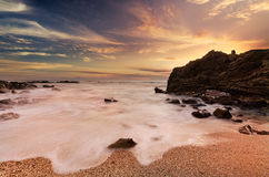 Amazing rocky beach scene Royalty Free Stock Photography