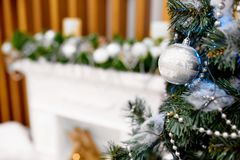 Christmas tree with toys Royalty Free Stock Image