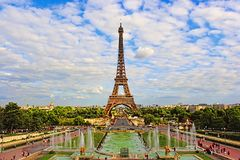 Beautiful photo of the Eiffel tower in Paris, France stock images