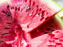 Beautiful photo  with  Fresh sliced watermelon  close-up. Natural background Royalty Free Stock Photo