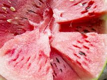 Beautiful photo  with  Fresh sliced watermelon  close-up. Natural background Stock Photo