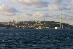 Beautiful photo of Istanbul euro-asian bridge Royalty Free Stock Images