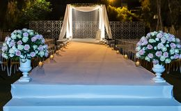 Jewish Hupa , wedding putdoor . Beautiful photo of the Jewish Hupa , wedding putdoor Royalty Free Stock Images