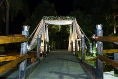 Jewish Hupa , wedding putdoor . Stock Image
