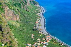 Beautiful photo of Madalena do Mar in Madeira Island, Portugal stock images