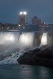 Beautiful photo of the Niagara Falls US side at night Stock Photography