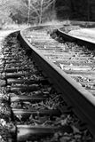Beautiful photo of the rural railroad Royalty Free Stock Images