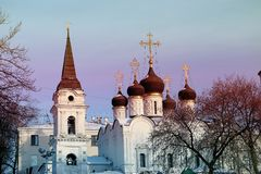 Orthodox Church in Moscow Stock Images