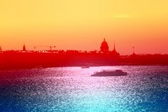 Beautiful photo view from above of St. Petersburg stock photo