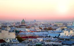 Beautiful photo view from above of St. Petersburg stock images