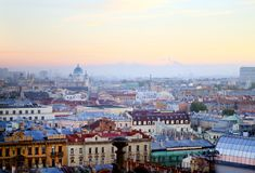 Beautiful photo view from above of St. Petersburg royalty free stock photos