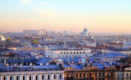 Beautiful photo view from above of St. Petersburg royalty free stock image