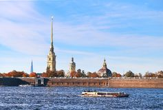 Beautiful photo view from above of St. Petersburg stock photos