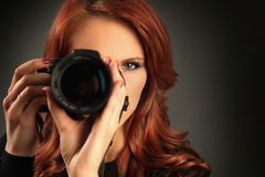 Beautiful photographer Royalty Free Stock Image