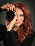 Beautiful photographer Royalty Free Stock Photography
