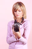 Beautiful photographer Royalty Free Stock Photos