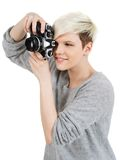 Beautiful photographer Stock Photography