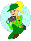 Beautiful photographer Royalty Free Stock Photography