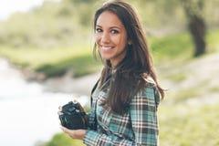Beautiful photographer portrait Stock Photography