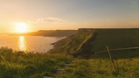A beautiful photography spot on the south west coast of England, on the jurassic coast.  royalty free stock images