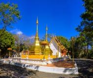 Phra That Doi Tung temple. Beautiful Phra That Doi Tung Buddhist temple near Mae Sai in Thailand Royalty Free Stock Image