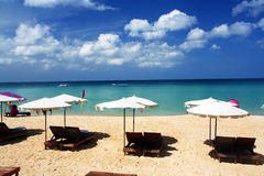 Beautiful phuket beach. Beautiful blue sea and sky phuket beach, surin beach Royalty Free Stock Photography